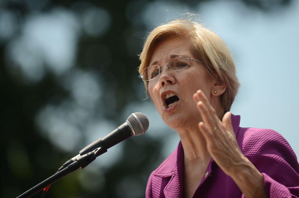 US Senator Elizabeth Warren spoke June 21 at a rally opposing the repeal of Obamacare.