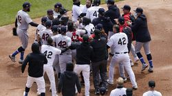 A disagreement at second base escalated as the White Sox' and Indians' benches cleared in the first inning.