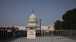 """An """"Area Closed"""" sign blocked the stairway to the US Capitol Visitor Center on Sept. 13, 2021, in Washington, D.C."""