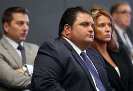 Everett Mayor Carlo DeMaria was on hand Monday during the hearing.