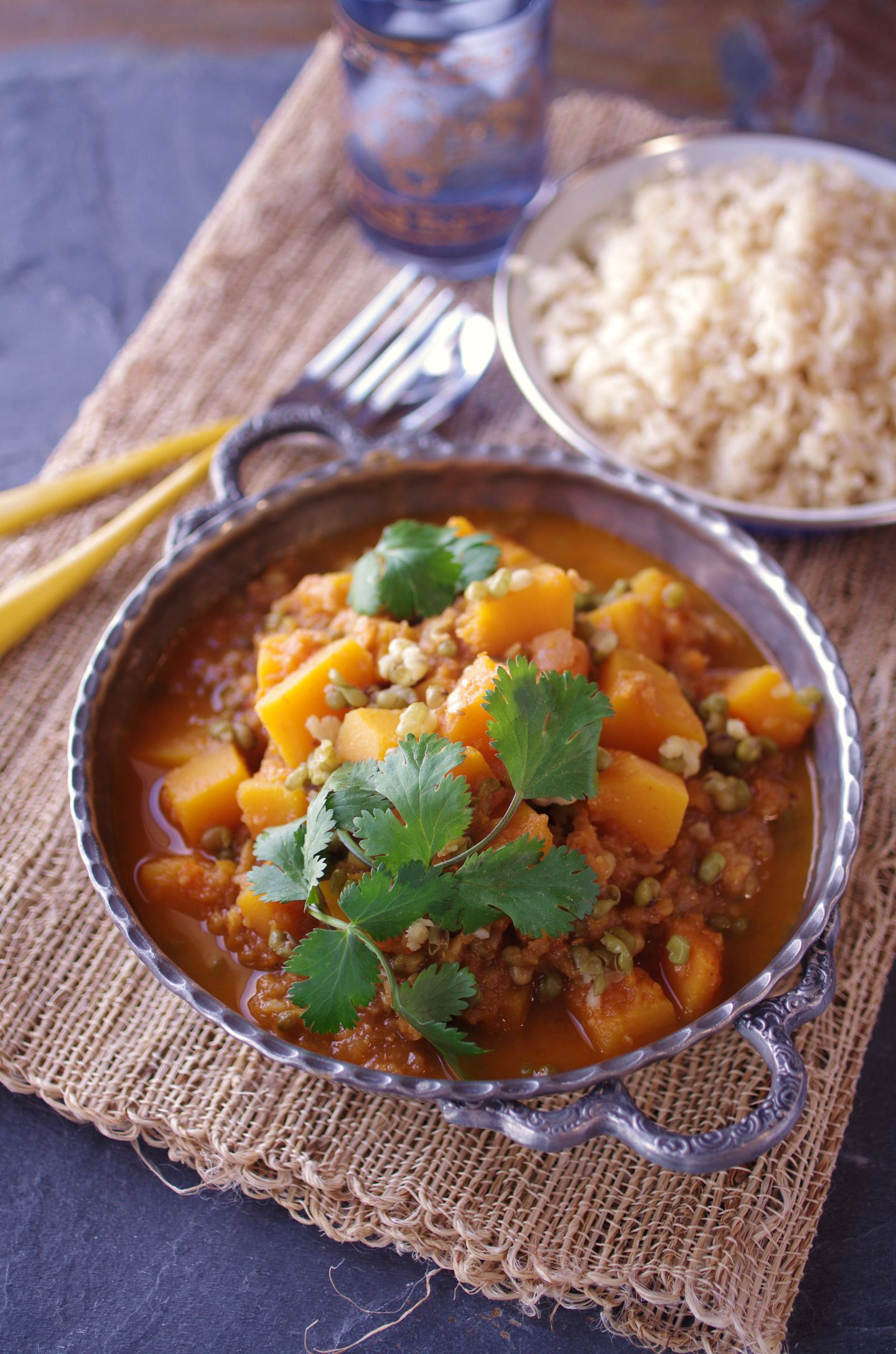 Recipe For Butternut And Mung Bean Curry The Boston Globe