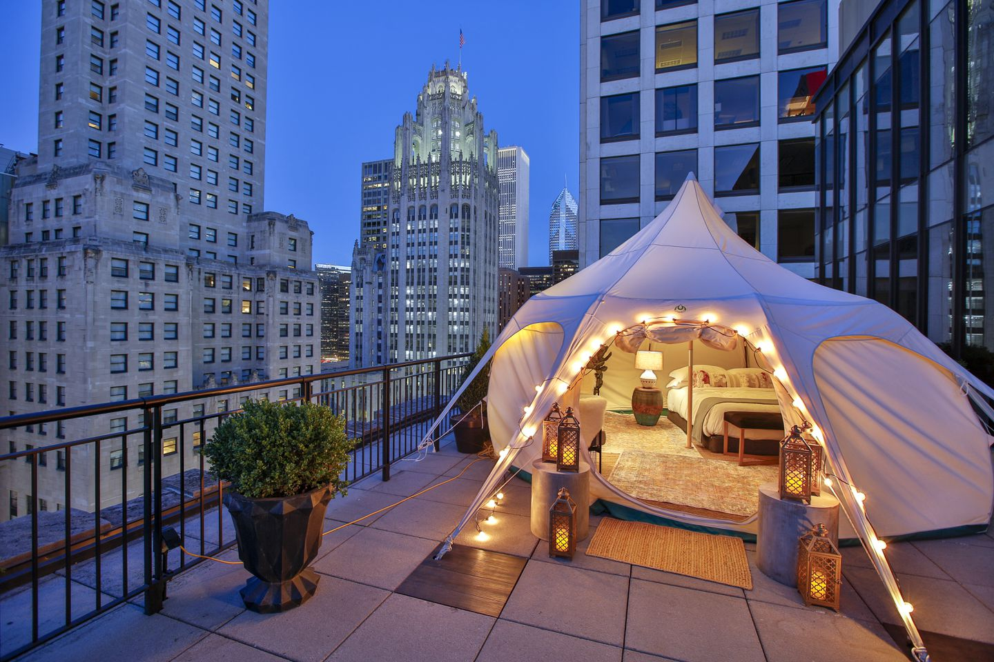 Not comfortable staying at a hotel yet? Try glamping at one