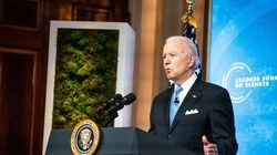 President Joe Biden delivers remarks during the second day of the virtual Leaders Summit on Climate at the East Room of the White House on April 23.