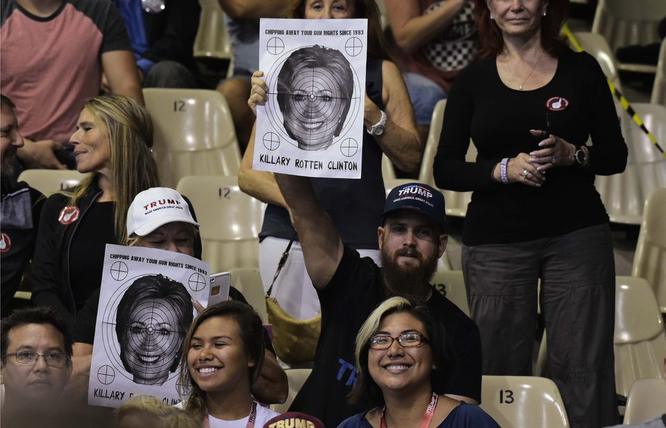 Supporters at a rally for  Donald Trump in the Robarts Arena, Sarasota, Fla.,  Nov. 7.