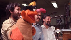 "From left: Jim Henson, Frank Oz. and Jon Stone in the early days of ""Sesame Street."""