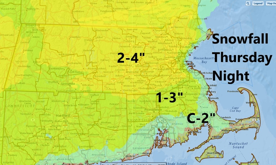 A look at expected snowfall in the region.