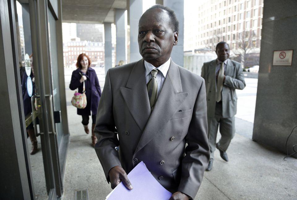 Onyango Obama, President Barack Obama's Kenyan-born uncle, arrived at US Immigration Court in Boston for a deportation hearing.