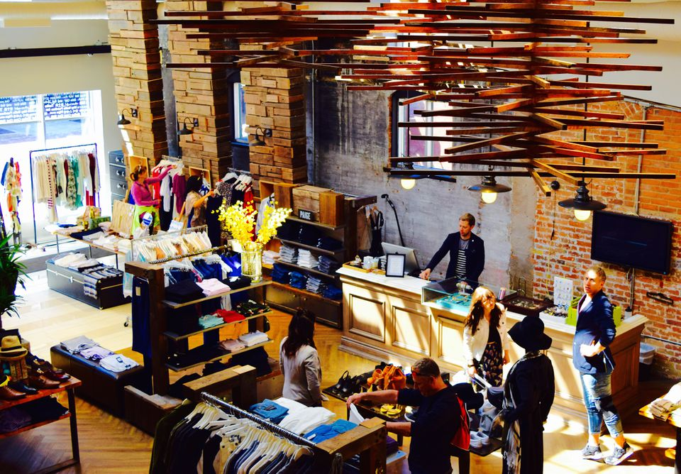 Bird's-eye view of the store Gotstyle in the Distillery District.