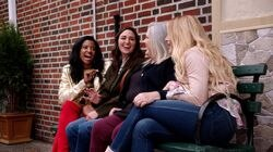 "From left: Renée Elise Goldsberry, Sara Bareilles, Paula Pell, and Busy Philipps in ""Girls5eva."""