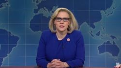 "Kate McKinnon as Representative Liz Cheney on ""Saturday Night Live."""