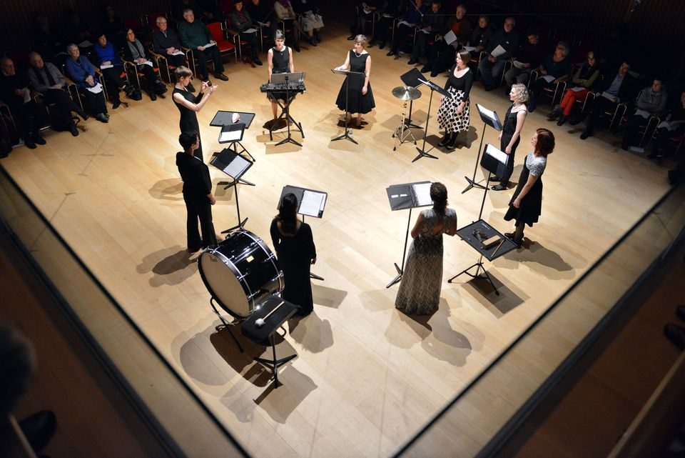 "The Lorelei Ensemble performed David Lang's ""Love Fail"" at Isabella Stewart Gardner Museum Sunday."