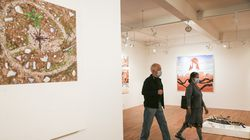 Visitors strolled late last month at Gaa Gallery, which hosted a reception with masking and attendance restrictions.