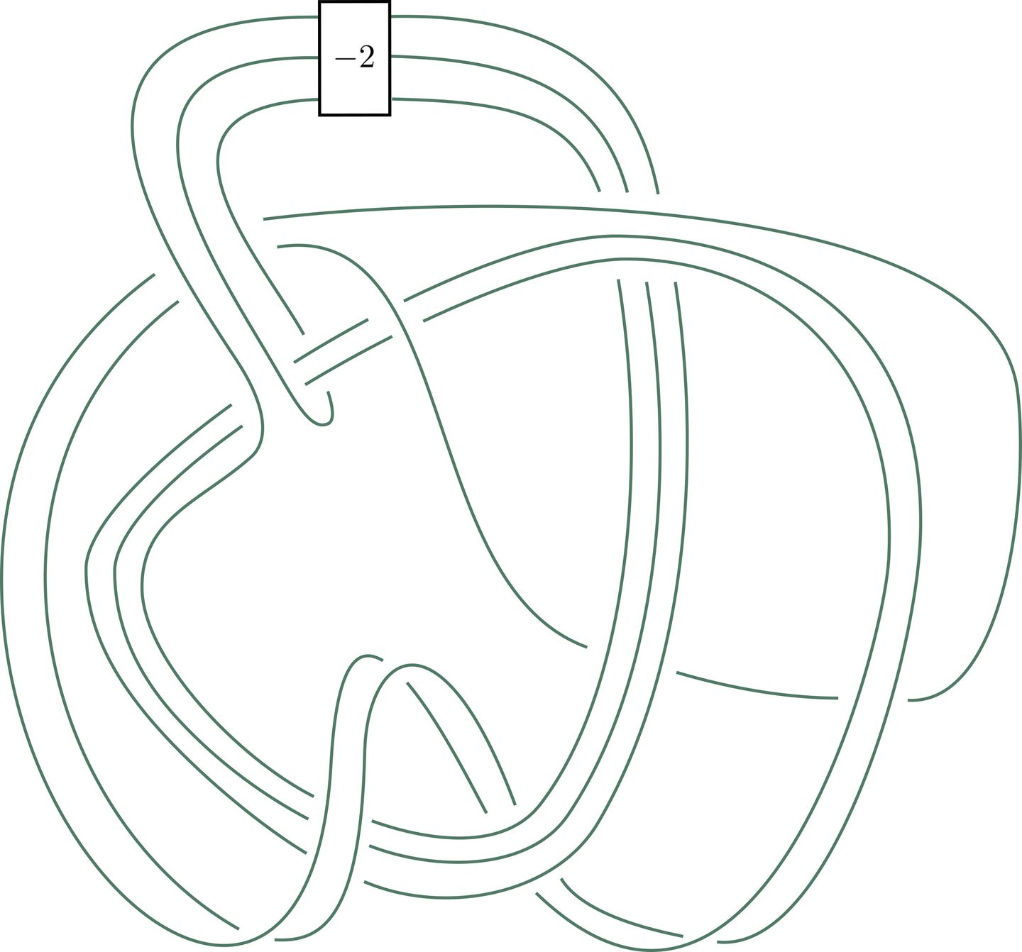 Piccirillo�s rendering of the knot she created to               solve the Conway knot problem.