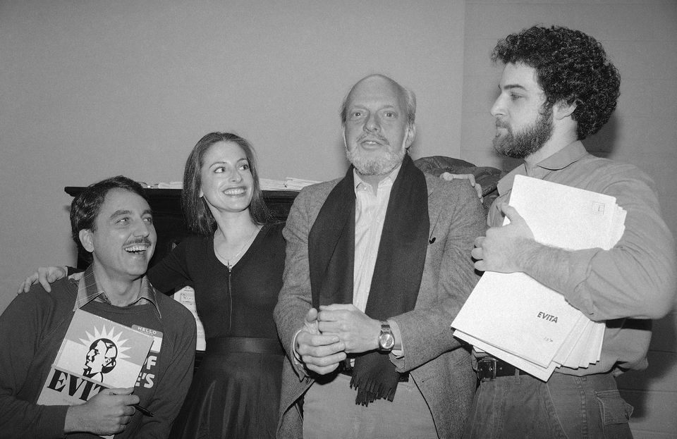 """Concerns about ethnic accuracy were muted regarding the 1979 New York production of """"Evita."""" Patti LuPone and Mandy Patinkin (at right) were among the cast members."""