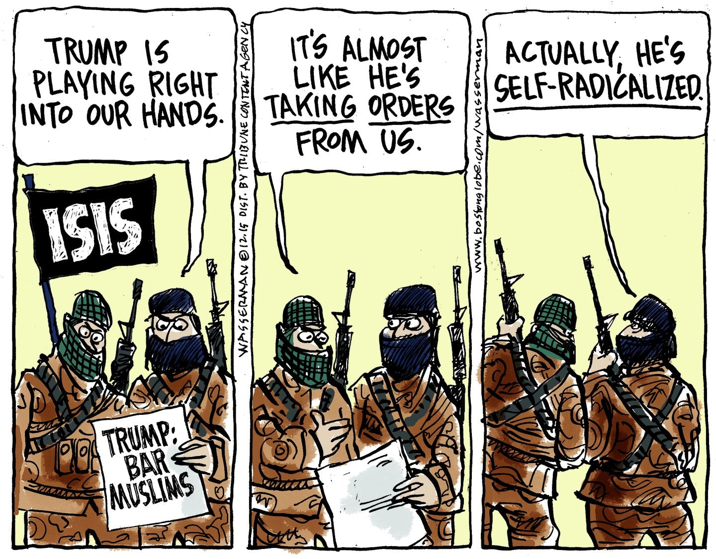 Editorial Cartoon Donald Trump Helps Isis The Boston Globe