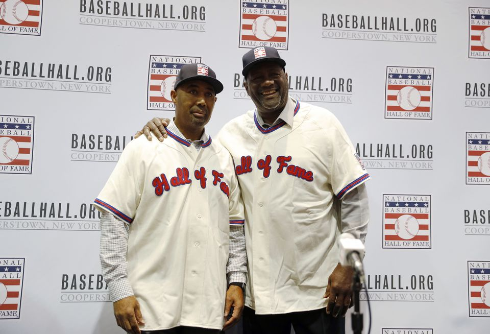 Harold Baines, left, and Lee Smith were elected to the Baseball Hall of Fame by the Today's Game Committee.