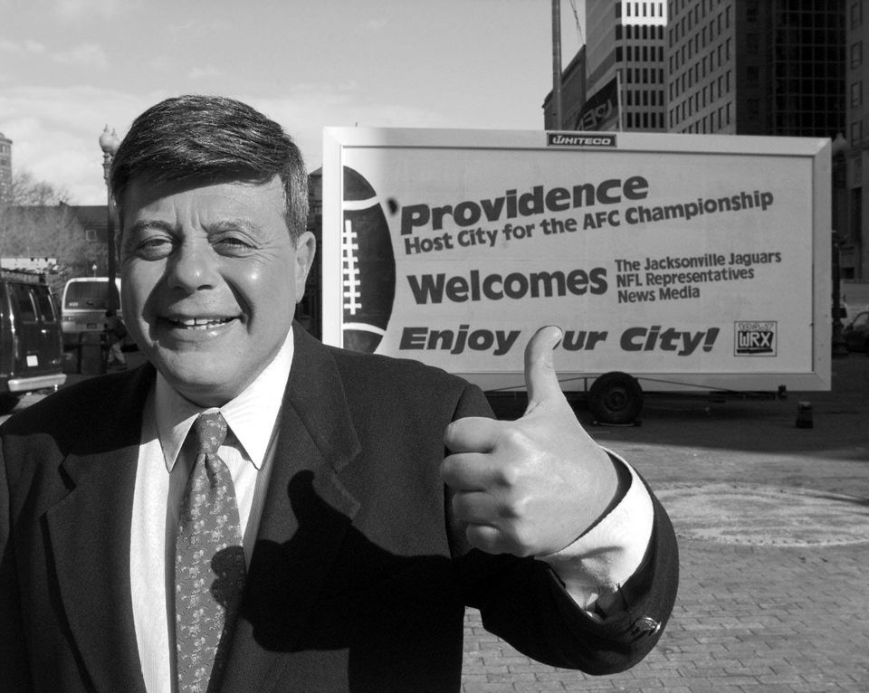 "Vincent ""Buddy"" Cianci Jr., the then-mayor of Providence, R.I., was photographed on Jan. 10, 1997."