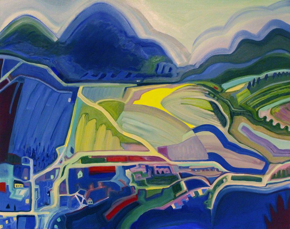 """Sandy Litchfield's """"Shadow Ranger"""" is part of the """"Land Ho!"""" exhibit at Fitchburg Art Museum."""