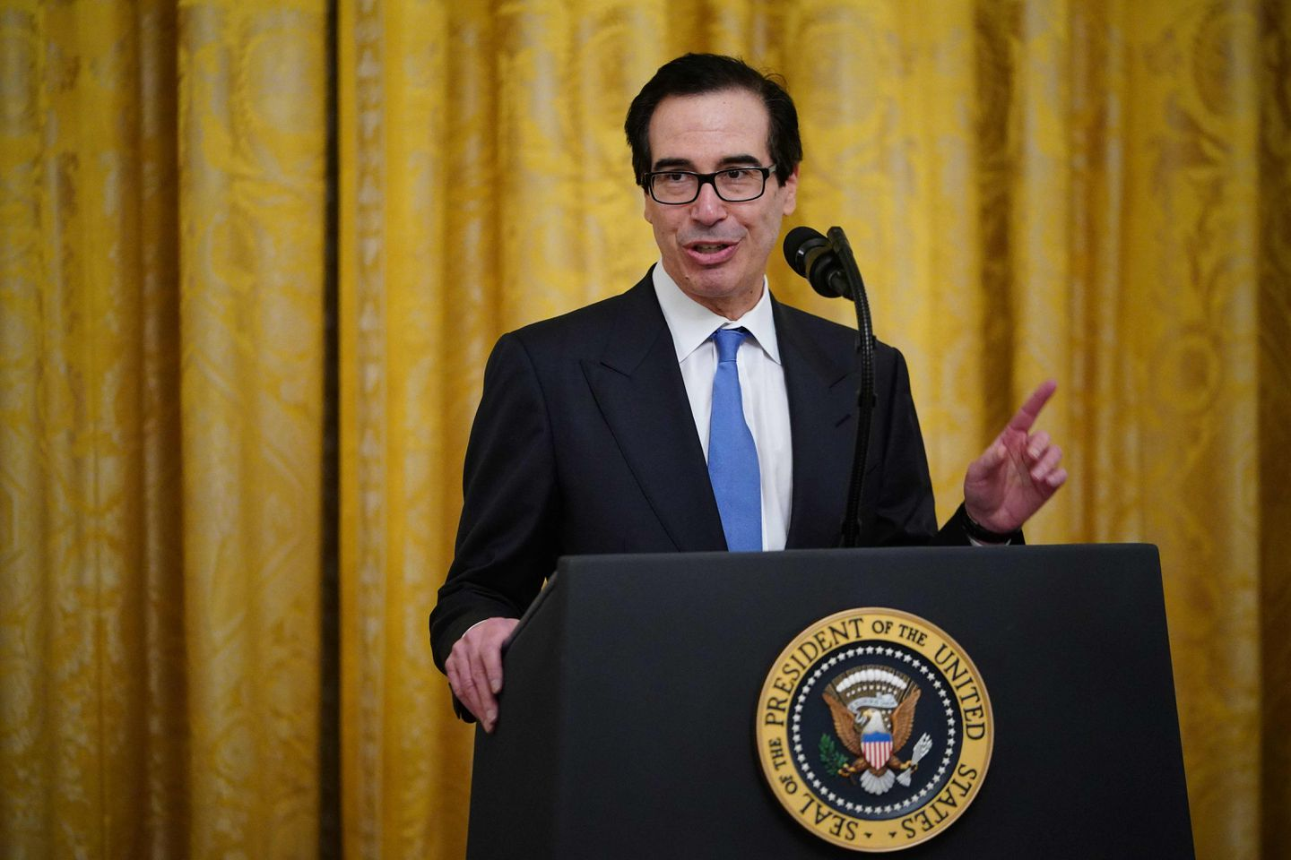 Treasury Secretary Steven Mnuchin says the federal government plans to audit all loans over $2 million before it forgives them.