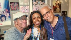 Alice Clark Brown, center, alongside former clowns Steve Smith, left, and Chris Bricker in 2017 at a reunion of Ringling Bros. and Barnum & Bailey Circus alumni.
