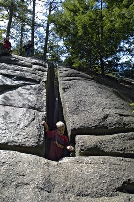 """Fat Man's Misery"" at Purgatory Chasm."