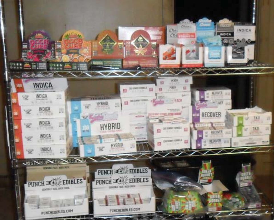 Marijuana products seized during the August raid of the Hyde Park warehouse.