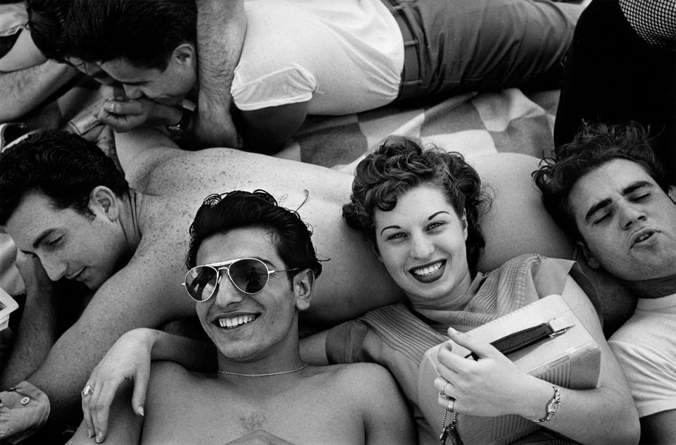 """Harold Feinstein said his """"<a href=""""http://www.panopticongallery.com/artist/harold_feinstein/#Harold_Feinstein_01.jpg"""" target=""""_blank"""">Coney Island Teenagers</a>"""" came about when """"one kid said, 'Hey mister, take my picture.' """""""