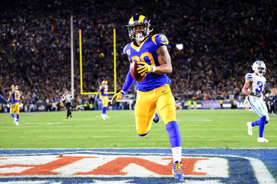 Todd Gurley led the NFL with 17 rushing touchdowns this season.