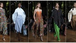 This photo combination shows models wearing creations from the Stella McCartney Ready to Wear Spring-Summer 2020 collection during Paris Fashion Week in September. For more than a decade McCartney has been in the sustainability fight. Her latest collection was her most sustainable yet, using organic cotton, recycled polyester, sustainable viscose, and traceable wool.