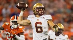 BC quarterback Dennis Grosel rallied the Eagles 53 yards to the Clemson 11 where he fumbled the ball away on second and 10 with less than a minute left in the game.