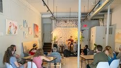 CultureHouse hosted a pop-up space on Main Street in Peabody, where it held an open mic night.