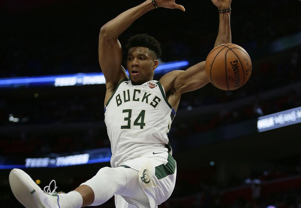 Giannis Antetokounmpo had 41 points in the clinching Game 4 win over Detroit Monday.