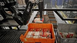 Berkshire Grey's robot sorted and packed food into boxes in November 2020.
