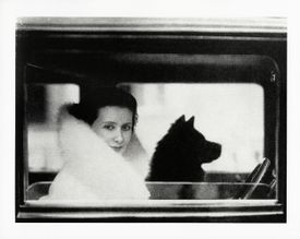 """Lotte Jacobi's """"Lil Dagover With Her Shih Tzu, Berlin."""""""