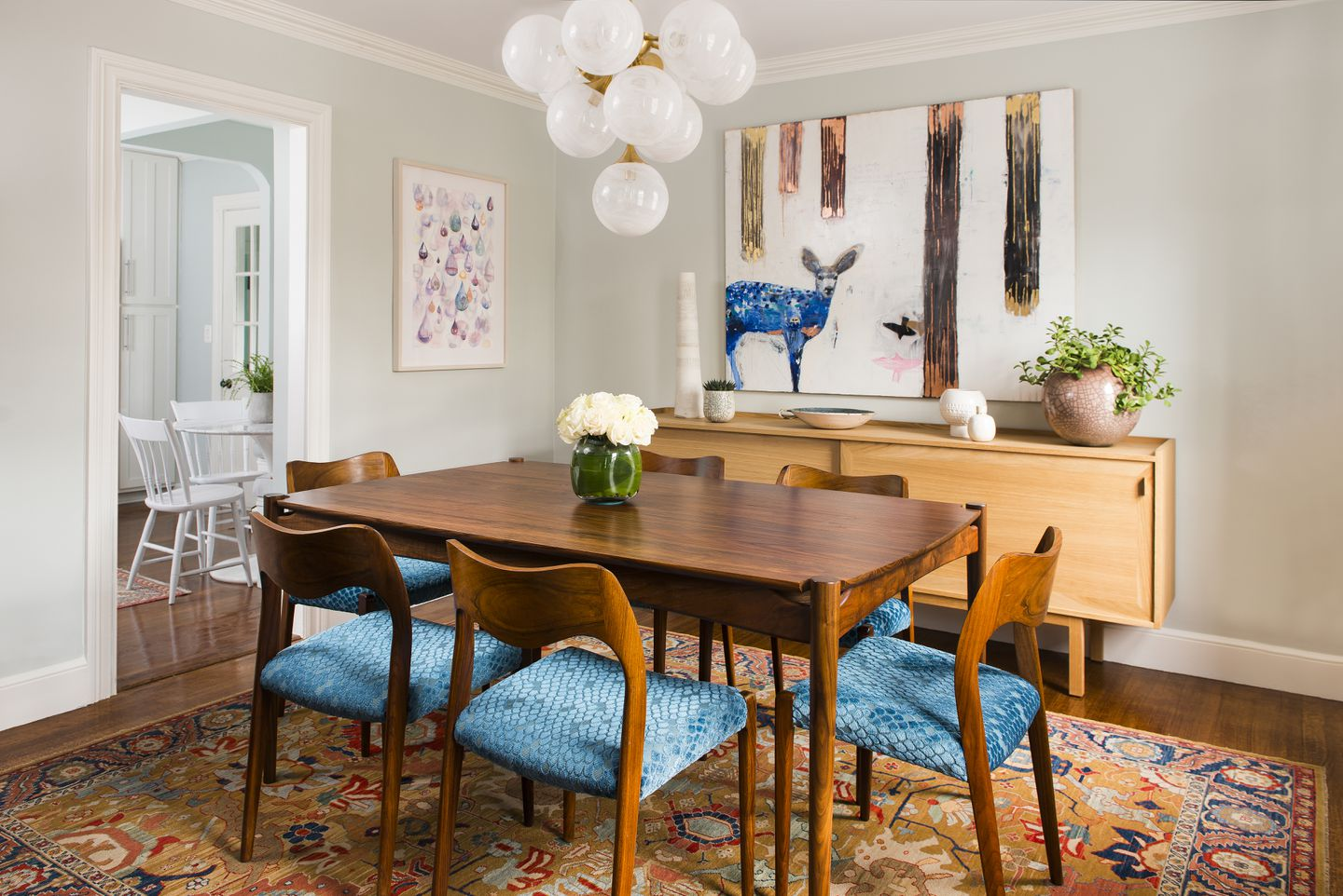 A Modest Dining Room With Mid Century Modern Flavor The