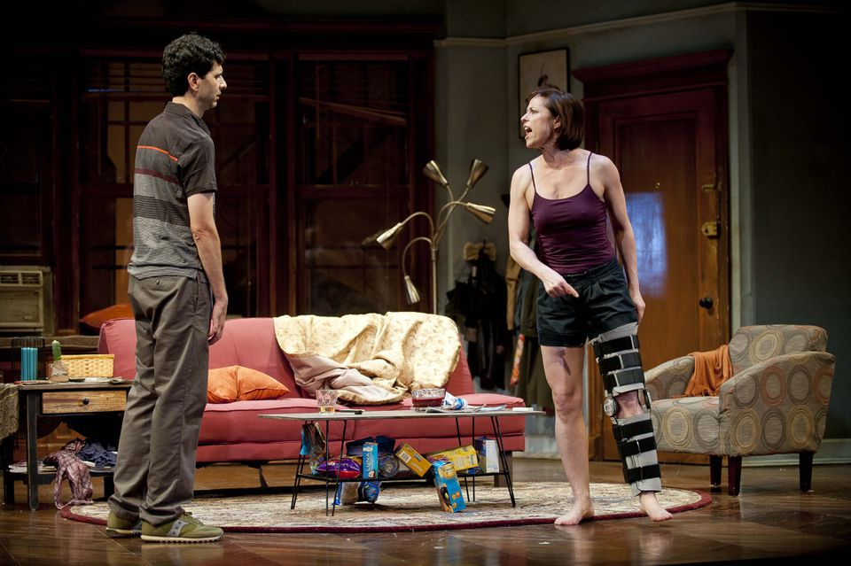"""John Cariani and Paige Davis in the Barrington Stage Company production of Mark St. Germain's """"Dancing Lessons."""""""
