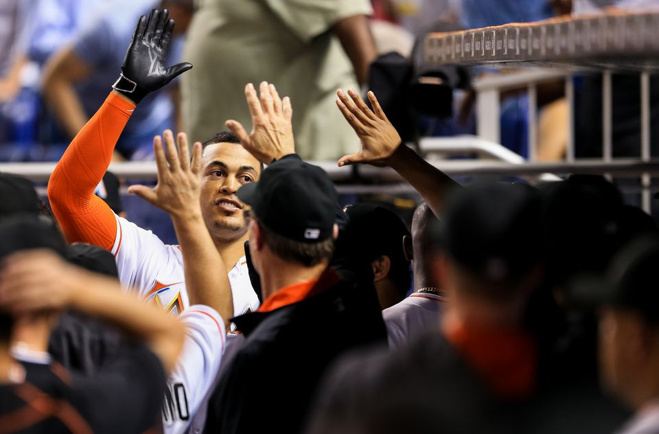 Giancarlo Stanton batted .240 and hit 27 homers in 2016.