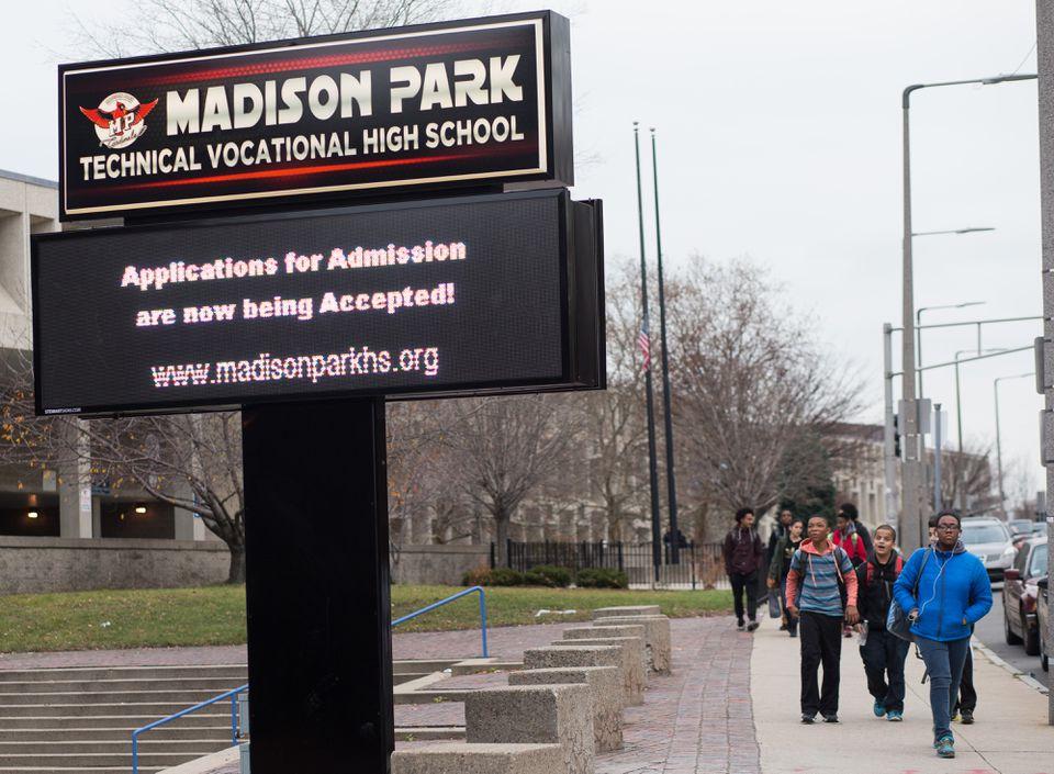 Madison Park Technical Vocational High School in Roxbury.