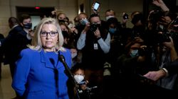 Rep. Liz Cheney on Wednesday, after her fellow Republicans voted to remove her rom a leadership position in the House.