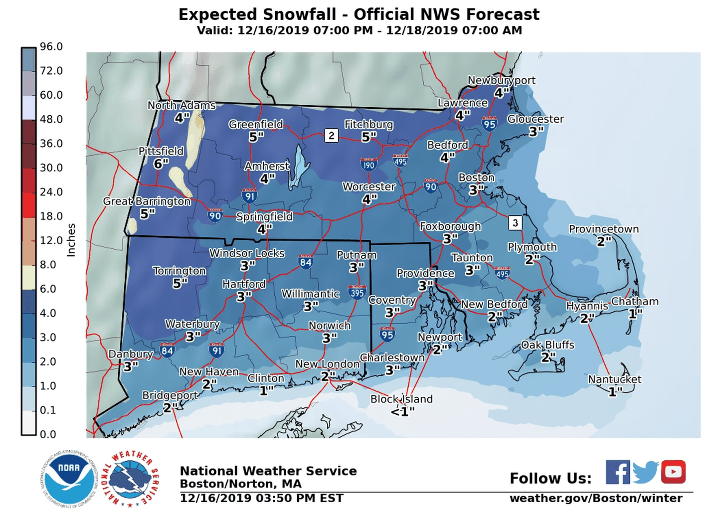 Maps Here S How Much Snow To Expect In Mass On Tuesday The