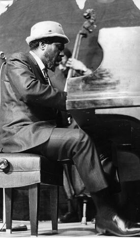 Thelonious Monk performing in Boston at the Globe Jazz Festival in January 1967.