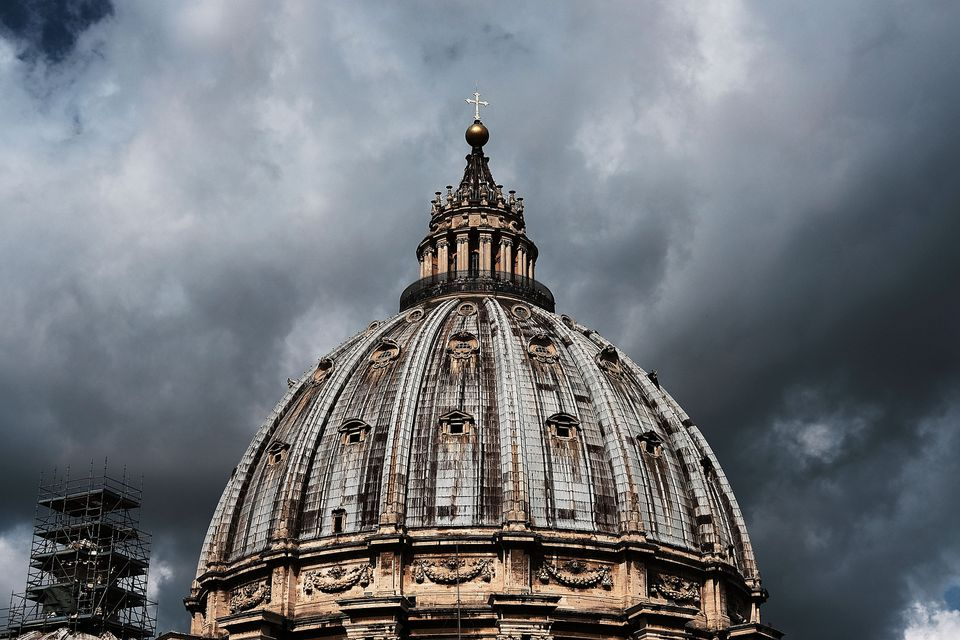 St. Peter's Basilica stands in Rome.