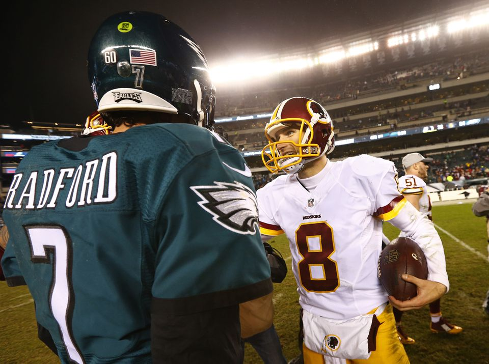 The NFC East is spending $64.45 million on its four primary quarterbacks, including Sam Bradford and Kirk Cousins.