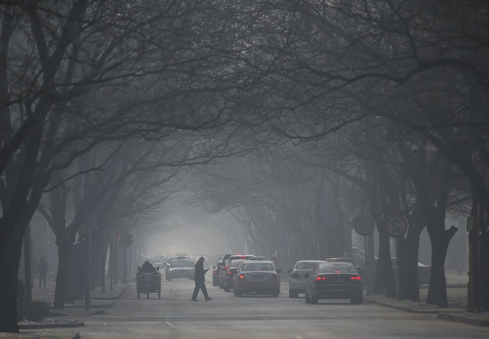 It was a heavily polluted day in Beijing, China on Nov. 29.