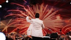 Keith Lockhart conducts the Boston Pops at 2019's Fourth of July concert at the Hatch Shell. This year's concert will be performed live at Tanglewood, followed by fireworks from Boston Common.