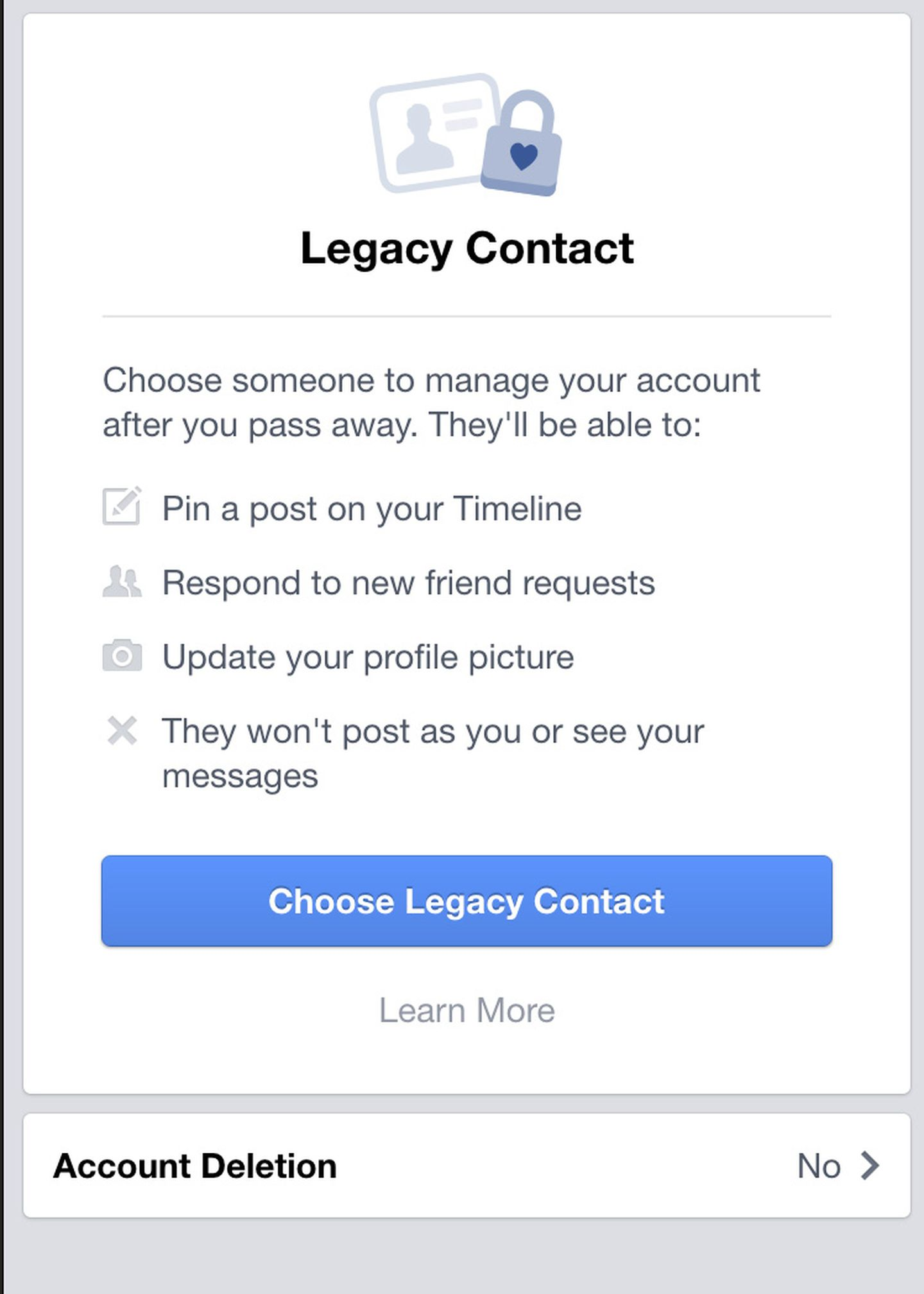 Facebook creates a 'living will' for users' accounts after