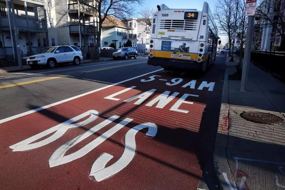 The City of Boston wants the state to pay for maintenance of a bus-only lane in Roslindale.