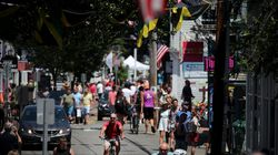 Vacationers visited Commercial Street in Provincetown on July 24.