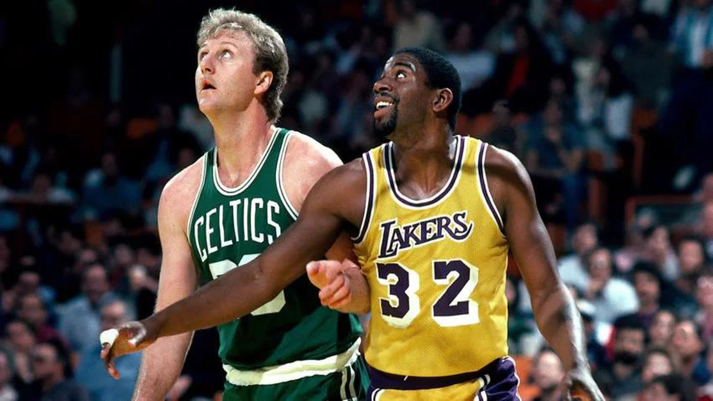 Image result for magic johnson larry bird