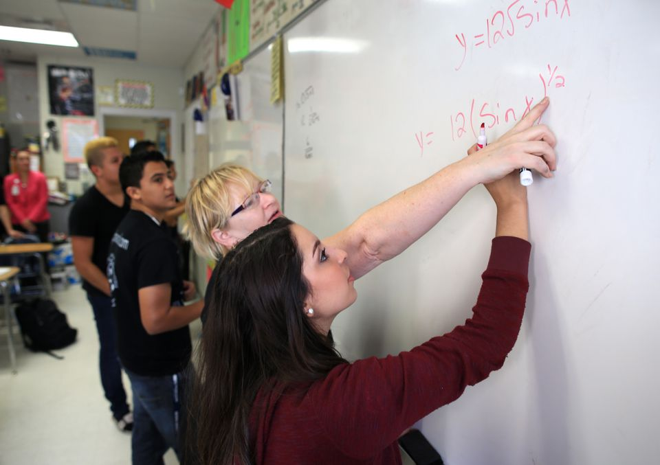 Ziegler worked with 11th-grade student Amber Colunga in her AP/DC Calculus class.